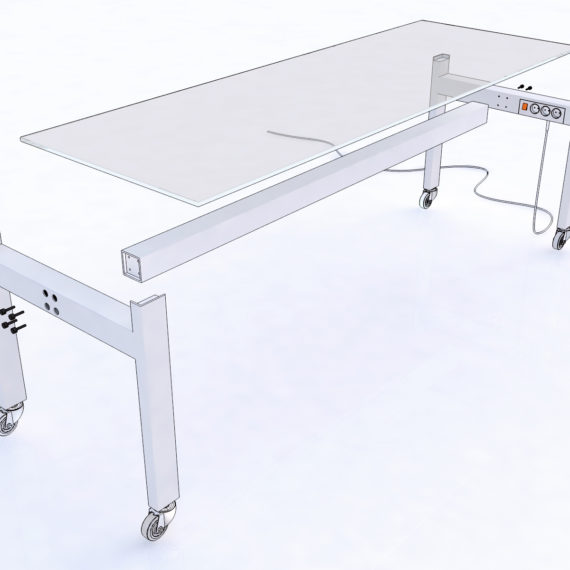 studio Tafel PowerTable Exploded view